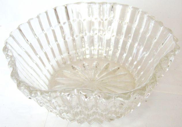 Ciotola Centro tavola-cristallo boemia-1960 ca.-