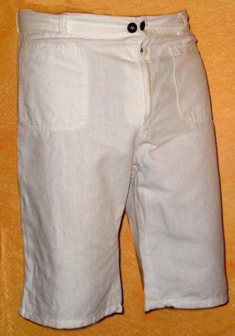 Pantalone estivo bianco corto