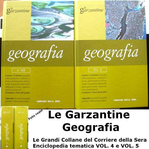 Le garzantine Geografia Volume 4 e 5 Corriere della Sera Le Grandi Collane .