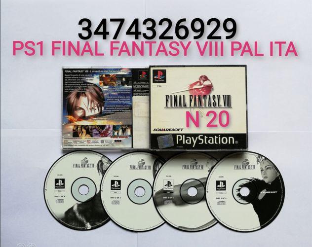 PS1 FINAL FANTASY VIII 8 PAL ITA
