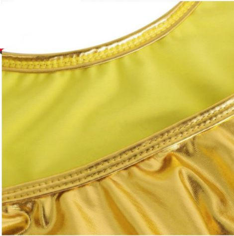 Costume intero gold oro monokini swimsuit donna woman swimwear sexydress shiny - Foto 4