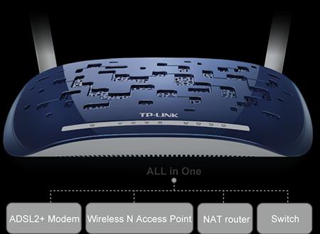 Modem Router ADSL2+ Wireless N 300Mbps TD-W8960N