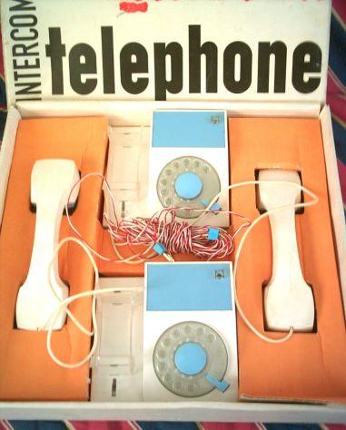 TELEFONI INTERCOMUNICANTI A DISCO MEHANO VINTAGE 1966