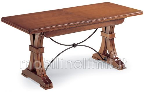 Tavolo allungabile gambe sagomate (180x100) - Nuovo
