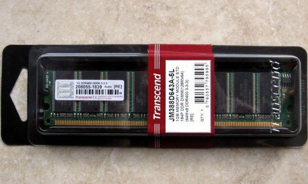 Memoria RAM per computer 1 GB DDR 400