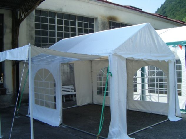 TENDONI GAZEBO 3 X 3 IN PVC GOLD QUALITY 550 GR. MQ. MM ITALIA