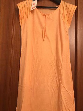 Intimo donna canotta di cotone colore arancione taglia 44