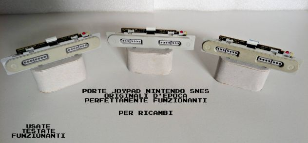 Porte joypad Super Nintendo SNES ORIGINALI (Funzionanti) Testate