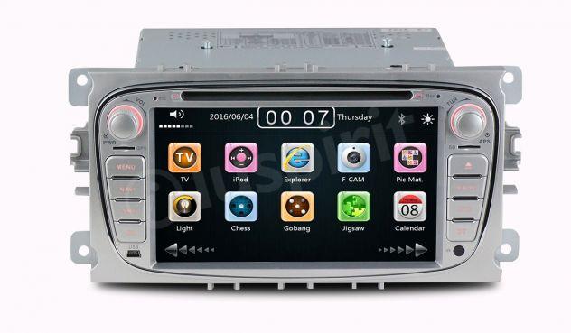 GPS DVD BT autoradio 2 DIN navigatore Ford Focus Mondeo C-Max Galaxy - Foto 3