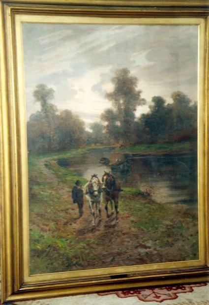 Importante dipinto ad olio di L. Roda
