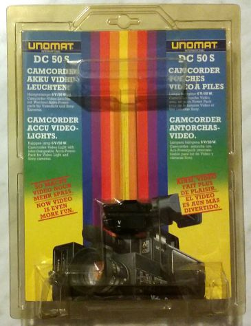 Unomat international DC50S luce video lampada halogena 6V/50W x cinepresa nuovo