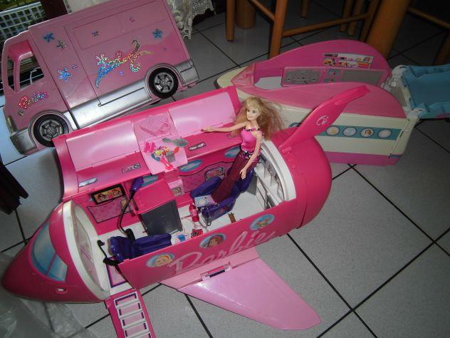 Barbie mondo magico AEREO-CAMPER-YACHT-TRENO-MOTOSCAFO
