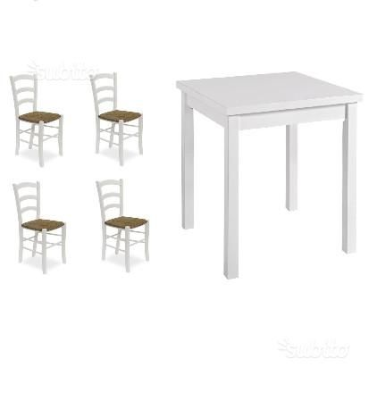 Set Completi Tavoli e Sedie color bianco cod 104
