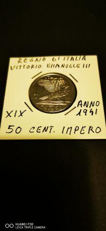 50 CENTESIMI VITTORIO EMANUELE III ANNO 1941
