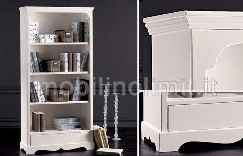 Libreria 4 ripiani e cassetto (grezza) - Nuovo