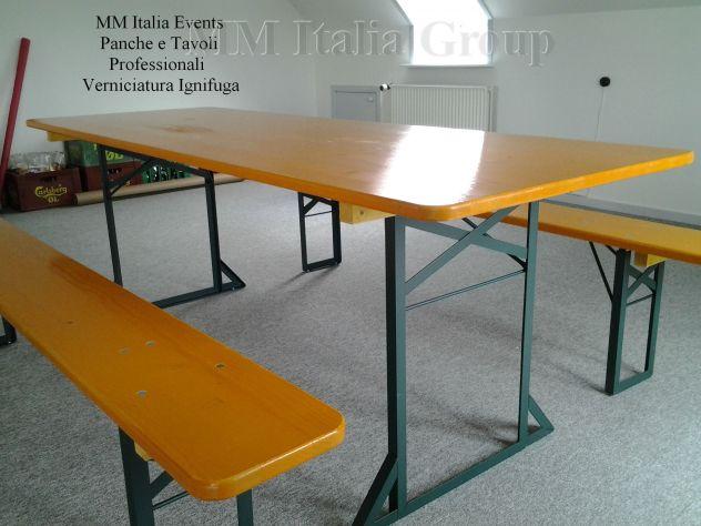 300 set panche e tavoli pieghevoli professionali per sagre noleggio - Foto 3