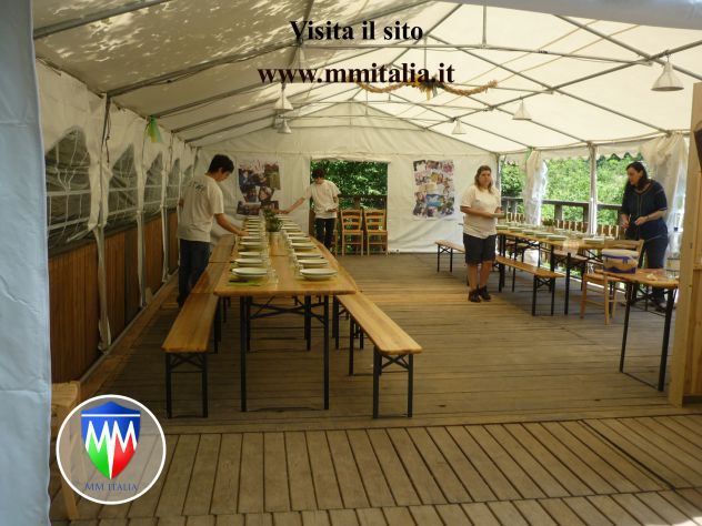 Verande Tendoni per Bar e Ristoranti 4 x 10 x 2,6 mt a Brescia - Foto 5