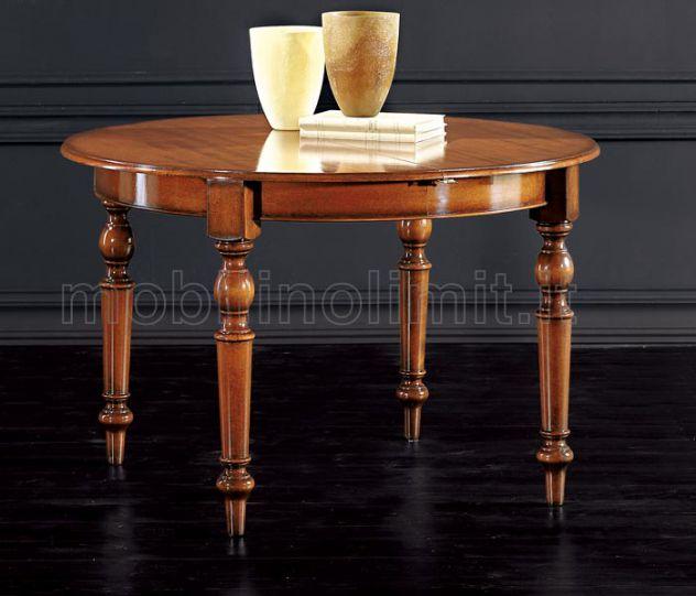 Tavolo rotondo allungabile anticato - Nuovo