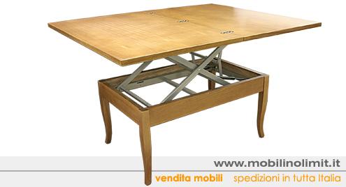 Tavolino Trasformabile salvaspazio rovere nuovo (aperto) - Nuovo
