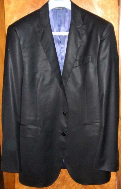 Giacca uomo nero lucido lana 48 I Sarti spacco retro moda fashion moderna   …