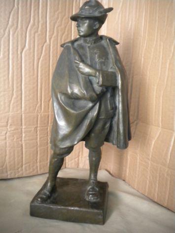 Alpino scultura bronzo