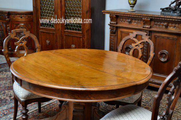 Tavolo Antico Allungabile Roma.Antico Tavolo Allungabile Ovalino Stile Umbertino Del 900