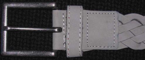 Cintura cinta uomo intrecciate fibbia acciaio anticato moda fashion Oviesse … - Foto 2