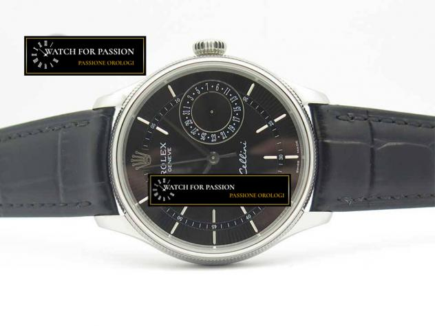 REPLICA ROLEX CELLINI REAL DATE  BEST EDITION QUADRANTE NERO E LANCETTE NER … - Foto 4