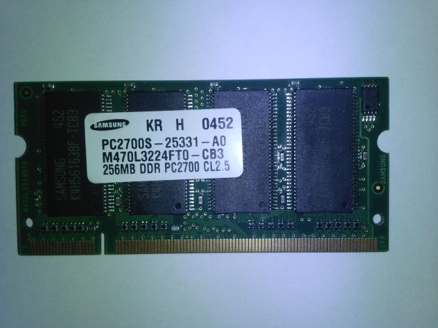 RAM 256 DDR PC2700 CL 2.5 Samsung