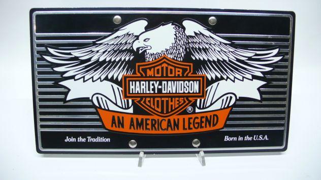 Harley-davidson targa vintage moto collezionismo
