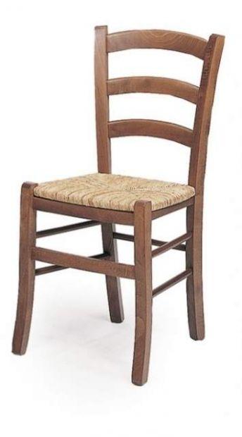 Sedie in legno seduta paglia color noce: Nuovo
