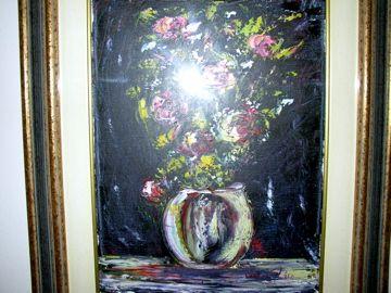 Mario Caragliu - olio su tela - vaso