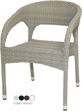 Sedia Alluminio con Intreccio Esterno Bar Cod 8001