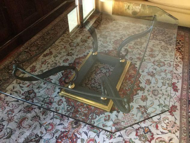 Offro Tavolo centro sala in ferro battuto/ vetro - Foto 5