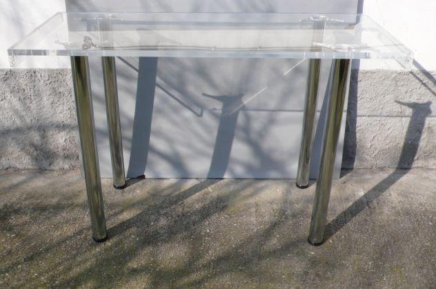 Tavoli plexiglass con gambe cromate design expo - Foto 2