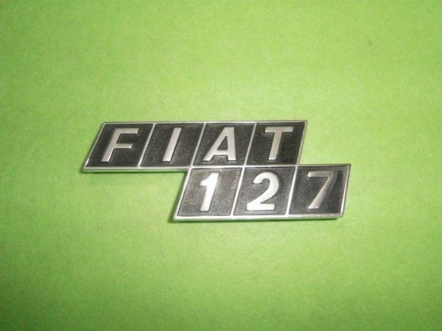 Scritta logo targhetta baule posteriore Fiat 127 prima serie