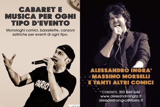 ALESSANDRO INGRà E MASSIMO MORSELLI CABARET MUSICAL A LONGIANO  MELDOLA