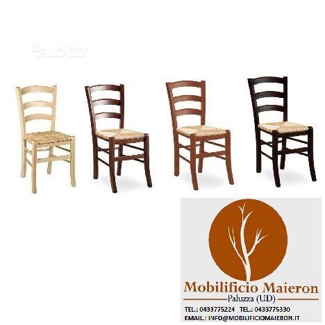 Sedie ristorante cod 3011/P tinte legno nuove