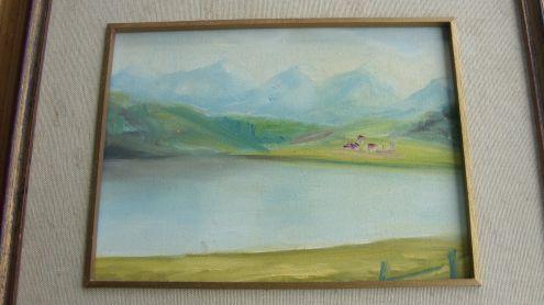 Dipinto ad olio di Gian il Camponese