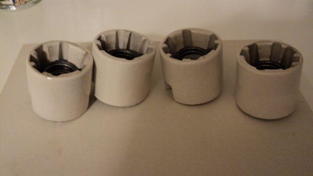 Portalampada in porcellana (4 Pezzi)