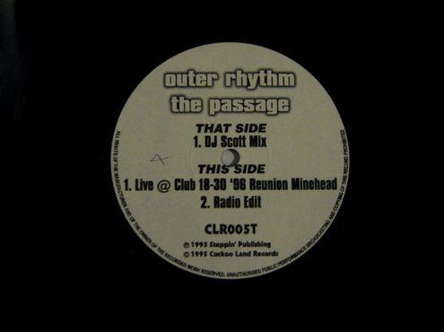 45 rmp (EP) originale del 1995 - Outer rhythm The Passage - Foto 3