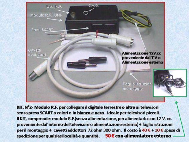 Modulo Radiofrequenza UHF per qualsiasi  televisore senza presa SCART. - Foto 3