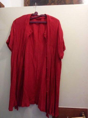 Camicia lunga rossa in poliestere 50