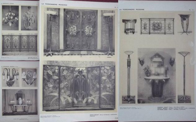1925 CLOUZOT: LA FERRONNERIE MODERNE PORTFOLIO - Foto 7