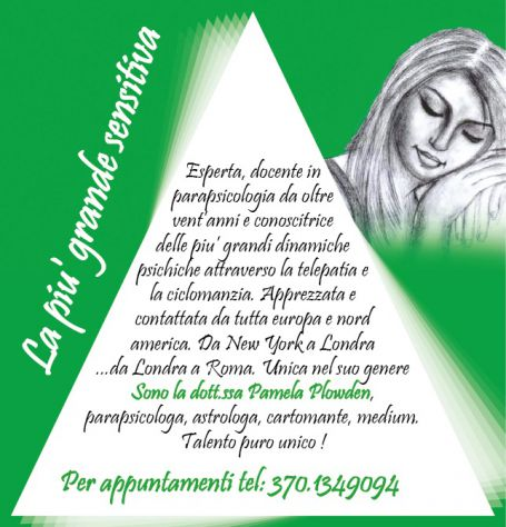DR. PAMELA PLOWDEN PARAPSICOLOGA ASTROLOGA CARTOMANTE MEDIUM - Foto 2