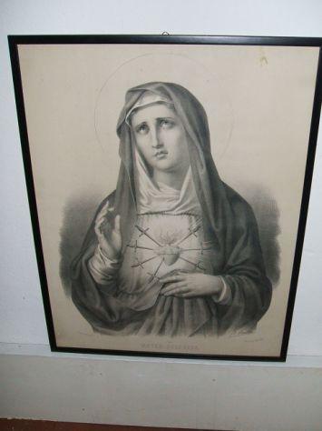 Antica litografia a soggetto sacro - Foto 6