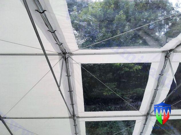 tendoni 6 x 12  tetto  e pareti trasparenti  pvc cristal , con velcro, modulari - Foto 2