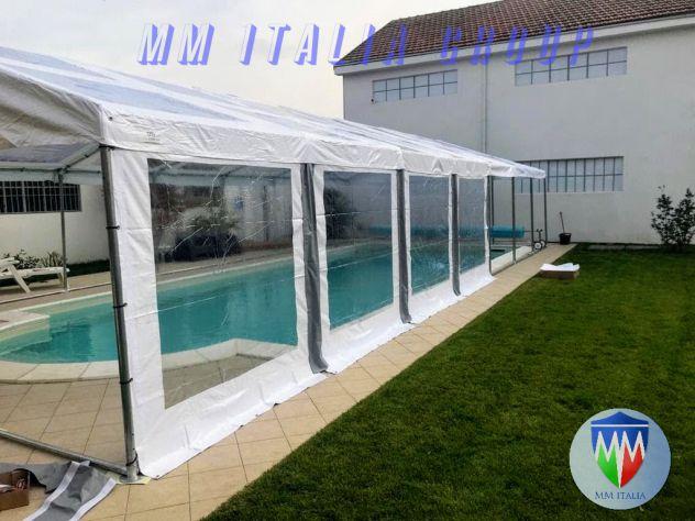 Coperture per piscine  pvc cristal telaio acciaio professionali per uso annuale