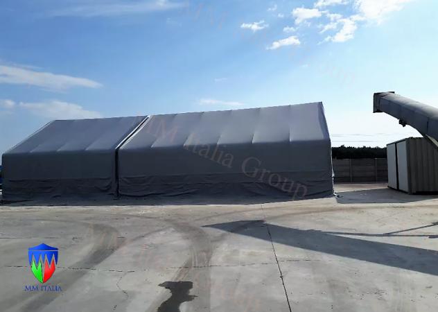Tendostruttura Tensostruttura 10 x 40 x 5,70 mt, gallerie , tunnel Autostrade - Foto 7