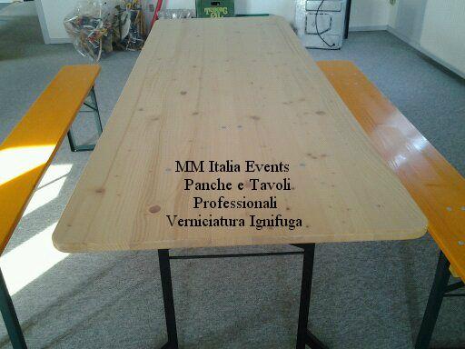 100 set panche e tavoli pieghevoli professionali per sagre noleggio